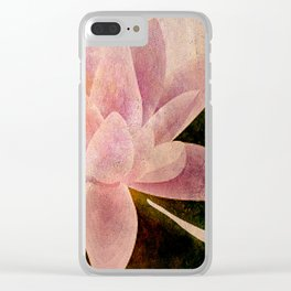 Lotus of my Heart Clear iPhone Case