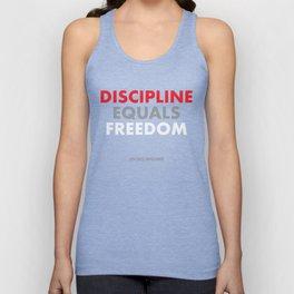 """""""Discipline Equals Freedom"""" Jocko Willink Unisex Tank Top"""