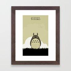 Japanese childhood anime cartoon character wall art print Framed Art Print