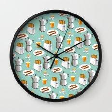 Happy breakfast! Wall Clock