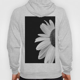 Half Daisy in Black and White Hoody