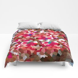 Ruby Red Heart Moon Love Comforters