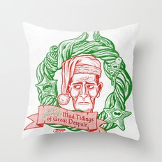 H.P. Lovecraft's Mad Tidings of Great Despair Throw Pillow