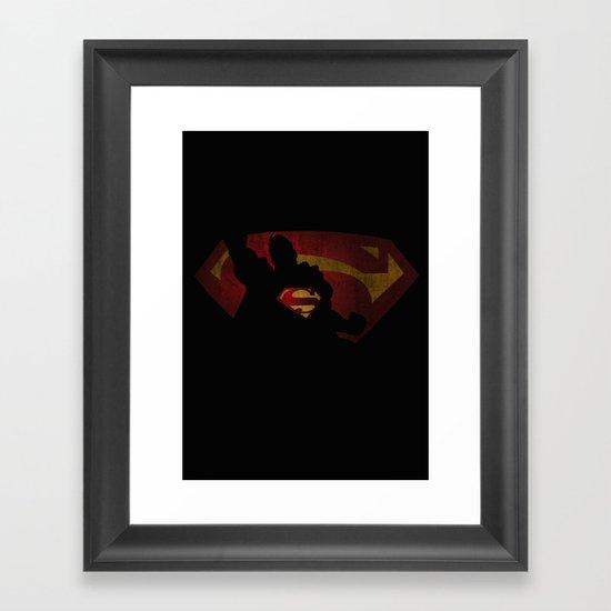 The man of sky Framed Art Print