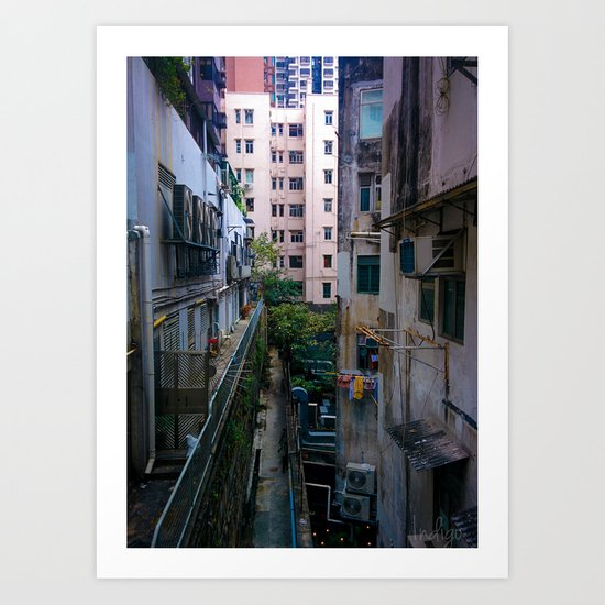 Hong Kong Alley Art Print