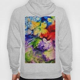 Abstract Encaustic Colorful Flowers, Hoody
