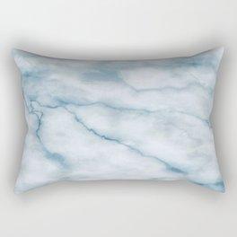 Light blue marble texture Rectangular Pillow