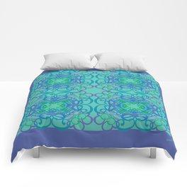 Gender Equality Tiled - Blue Green Comforters
