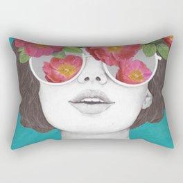 The Optimist - Rose Tinted Glasses Rectangular Pillow