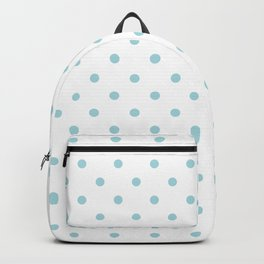 Wedding Garter Blue Polkadot Spots on Bridal White Backpack