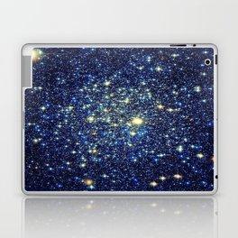 galaxY Stars : Midnight Blue & Gold Laptop & iPad Skin