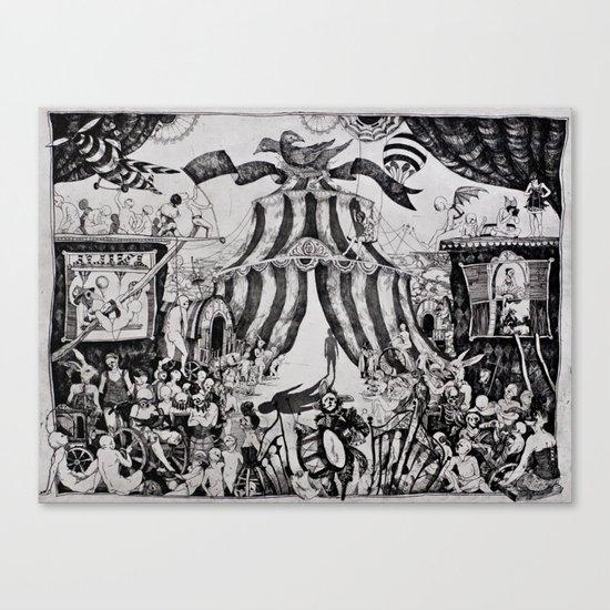 Circus of life II Canvas Print
