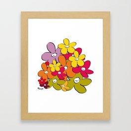 the power of the smiling flowers Framed Art Print