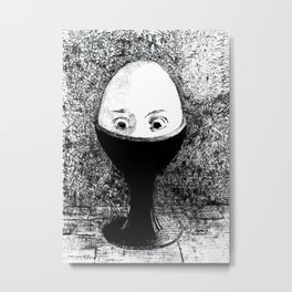 The Egg, 1855 Artwork by Odilon Redon Artwork for Wall Art, Prints, Poster, Tshirts, Men, Women, Kids Metal Print