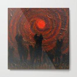 Hyena Sundown Metal Print
