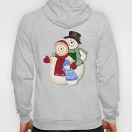 Snowman and Family Glittered Hoody