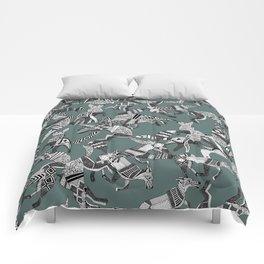 woodland fox party juniper Comforters