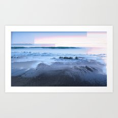 San Simeon Sunrise Pixel Sort Art Print