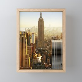 New York City Sunshine Framed Mini Art Print