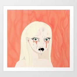Dissolving Keiko Arisu Art Print