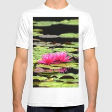 Lilies on Lake hope Mens Fitted Tee White MEDIUM