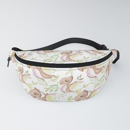 Watercolor Png Brown Dinosaur Hand Drawn Illustration Pattern Fanny Pack