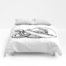 vipera b/w Comforters