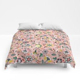 BOHO Chintz (Coral Pink) Comforters