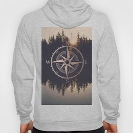 Rose Gold Compass Forest Hoody