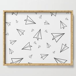 Paper Airplane Pattern | Line Drawing Serving Tray