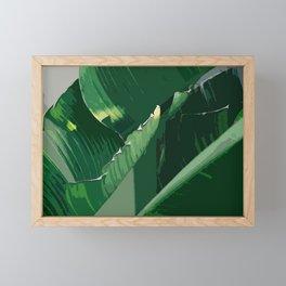Green leaf Framed Mini Art Print