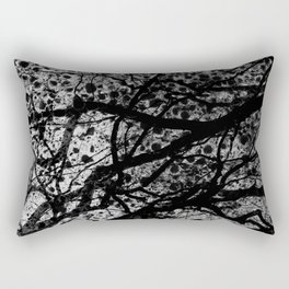 Entwined Branches And Marble Rectangular Pillow