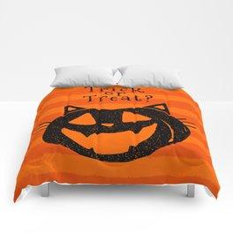 Trick or Treat? Halloween cat lady Comforters