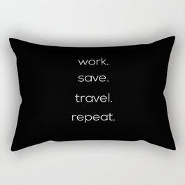 Work, Save, Travel, Repeat Rectangular Pillow