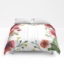 Wild Poppies Comforters