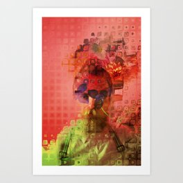 Destructuring Art Print