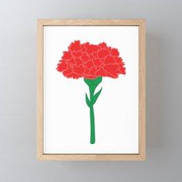Carnation Illustration Framed Mini Art Print