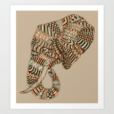 Elephant (Majestic) Art Print