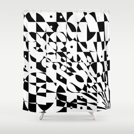 Fractured Structure Shower Curtain