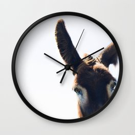 Two Ears One Mouth Wall Clock