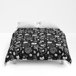 Herb Witch // Black & White Comforters