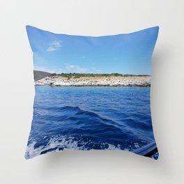 Beach Vacation Wonderful Wave Throw Pillow