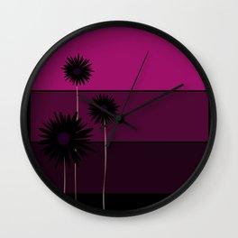 simple flowers - teal Wall Clock