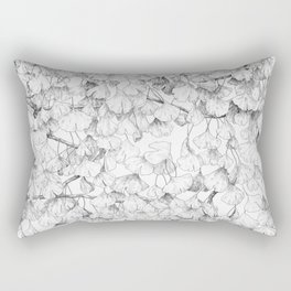 Ginkgo biloba - pattern in black Rectangular Pillow