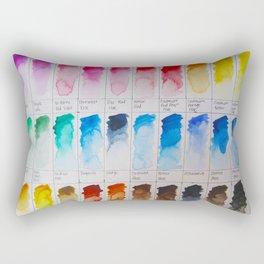 Watercolor Swatches Rectangular Pillow