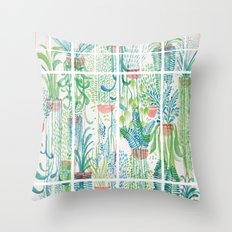 Winter in Glasshouses II Throw Pillow