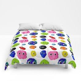 GOOGLY BLOBS Comforters
