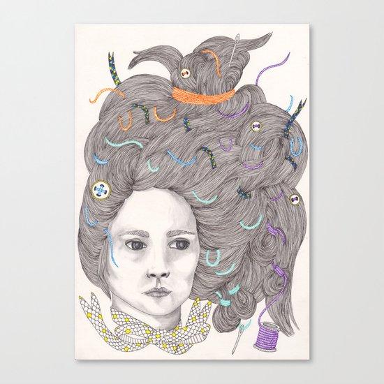 Bad Hair Day III Canvas Print