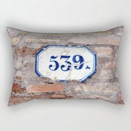 Number 539 on brick wall Rectangular Pillow
