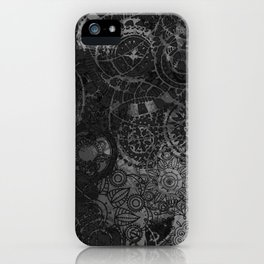 Distressed Ink Multi Mandala Graphic Design iPhone Case